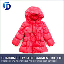 2017 New Products Apparel Stock Red Girls Jacket
