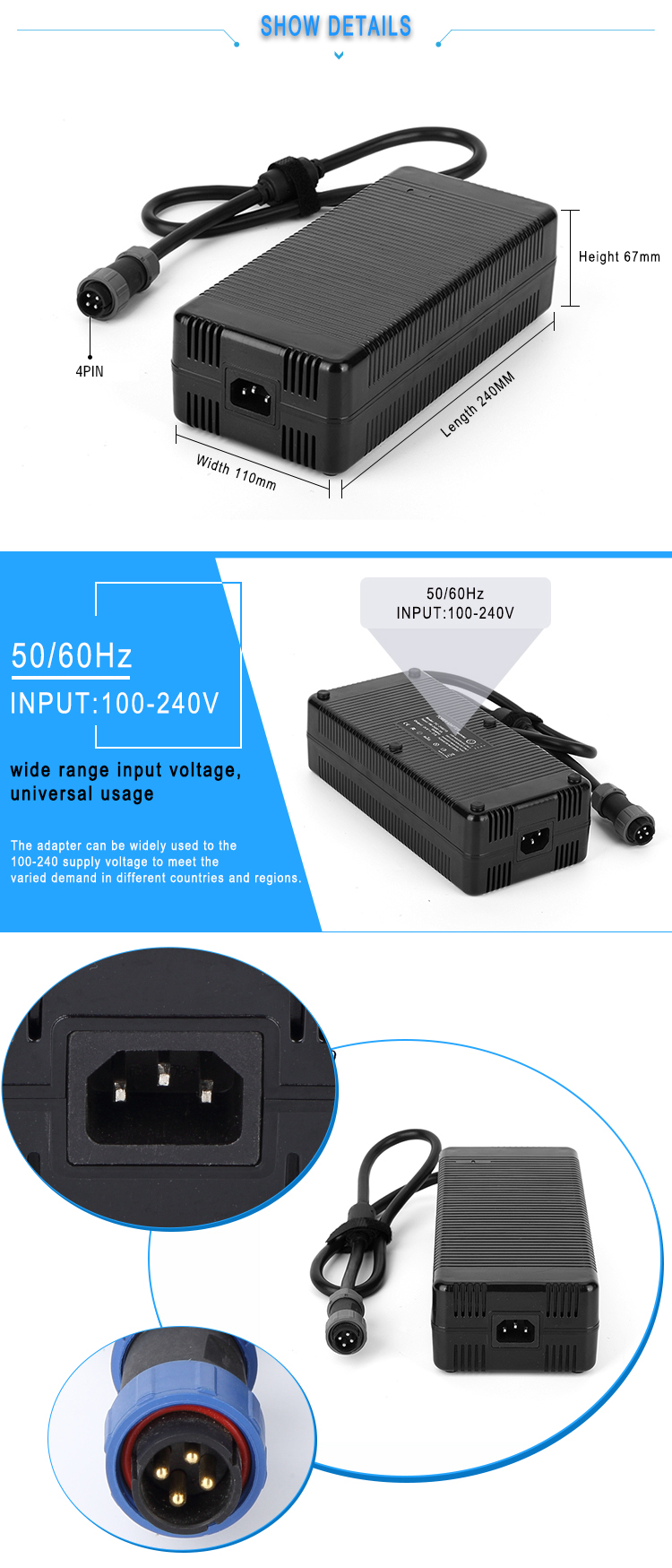 110v ac to 24v dc power supply 21amp 504w printer power adapter