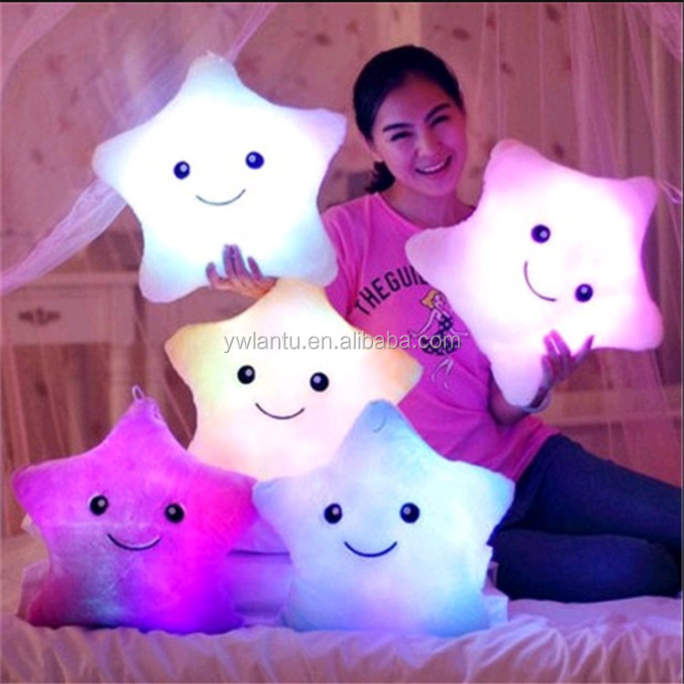 Valentine Day Gift Colorful Twinkle Star Plush Toys Beautiful Stuffed Soft led Light Star, Plush Toys