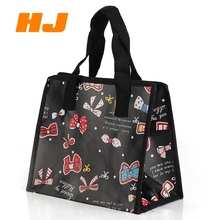 Cheap price custom recycled laminated non woven shopping bag with zipper