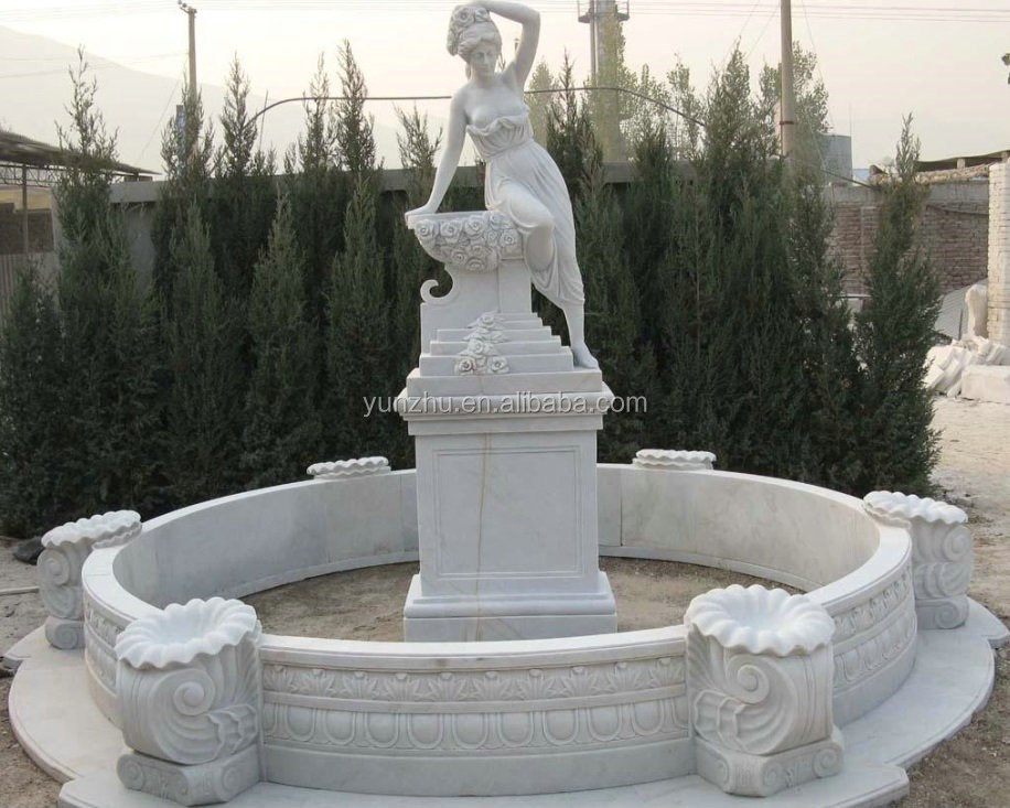 large outside garen marble granite statue water fountain stone fountain