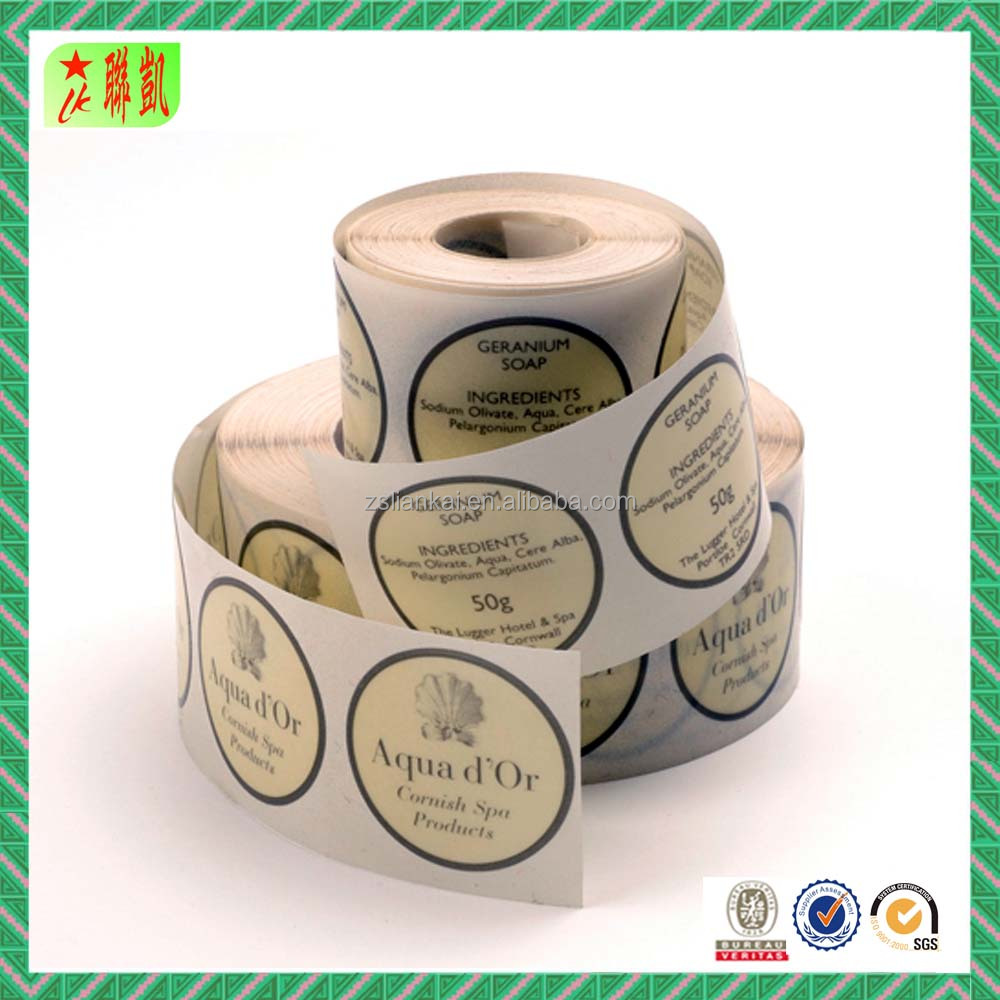 Custom Printed Self Adhesive Paper Roll Sticker Label