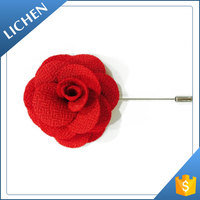 Hot selling Custom bulk fabric flower lapel pins for men