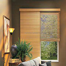 wide slat wooden blinds with tapes