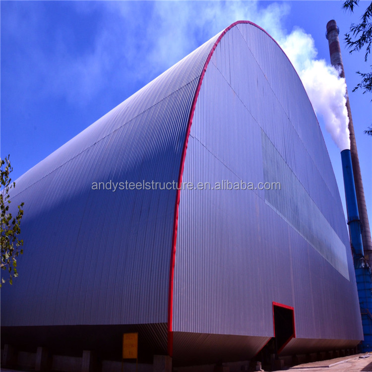 Prefabricated Light Steel Structure Space Frame Coal Storage Roof Design with Good Price