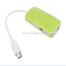 USB 3.1 Type C to Multiple 2 Ports USB 2.0/ 1 Port Micro USB Hub with Ethernet Network LAN Adapter For New 12 inch Macbook
