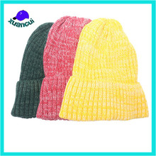 Fashion Acrylic Winter outdoor ski knitted cap hip hop Beanie Hat wholesale