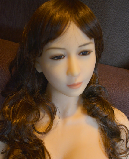 realistic silicone head for 155 cm 165cm sex doll with bolt to connect with body