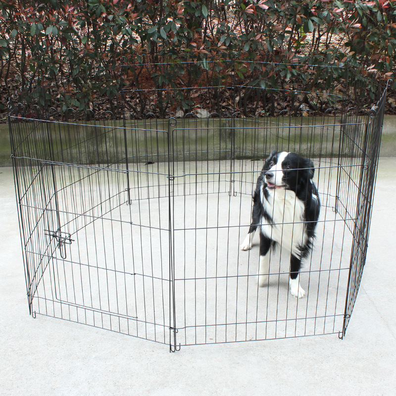Wholesale portable dog kennel fence outdoor iron wire expandable pet fence