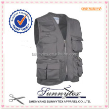 Wholesale Cheap Mens multi pocket Industrial Work vest
