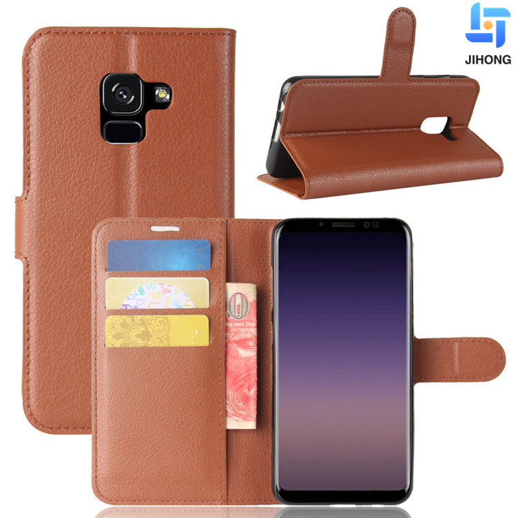 Luxury Colorful Card Holder Case for Samsung Galaxy A5 A7 2018 Leather Phone Case Wallet Flip Cover