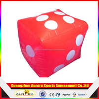 6 Pieces/Set Inflatable Dice Soft Cubes Dot Dice Outdoor/Indoor Toy Party Supply Favor Promotional-site Props Children Toy