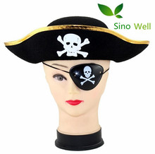 High Quality 100% Non-woven Felt Party Pirate Hat