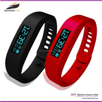 [somostel] stock product silicon jewelry LED light Mobile Vibrating Bluetooth flashing bracelet smart watch phone answers your C