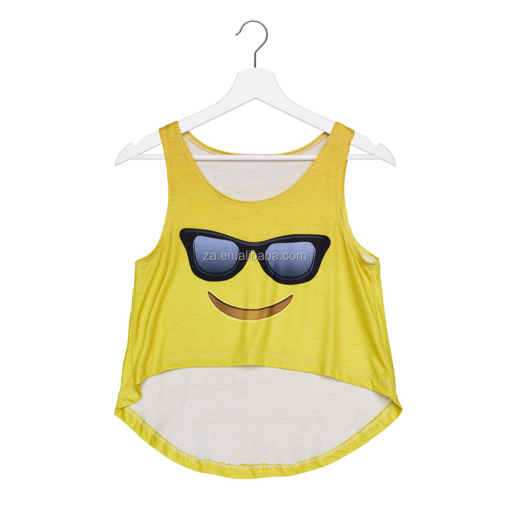 New Fashion Apparel Tops Custom Printed Crop Design Casual Sports Tank Top