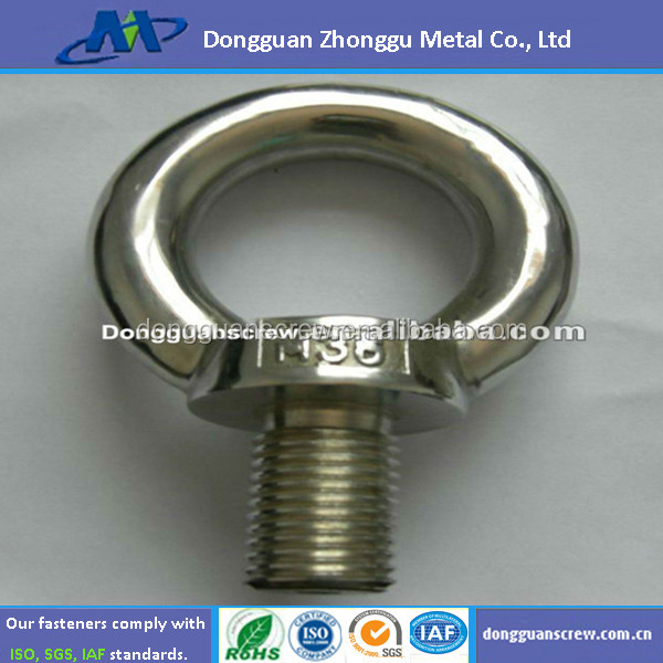Made in China decorative/lifting/motor manufactur manufactur stainless steel/brass/carbon stee eye bolt