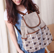 New Fashion Casual Canvas Backpack Rucksack Shoulder Bags Japanese High School Bag