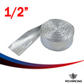 "PQY RACING- 1/2"" Aluminized Reflective Mylar Foil Heat Shield Fire Sleeve (One roll=10m) PQY1511A"