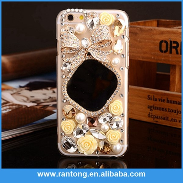 Bling Crystal Diamond and Flower TPU cover case For iphone 5 5s 5g
