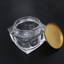 Custom luxury clear round acrylic cosmetic bottle for skin care cream