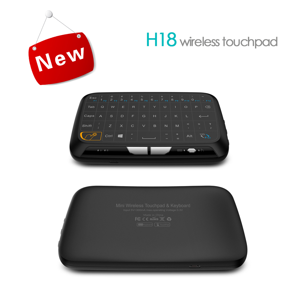 Mini Fashion Design H18 Keyboard With Full Screen Touch Pad Mode And Keyboard Mode Multifunction Wireless Keyboard