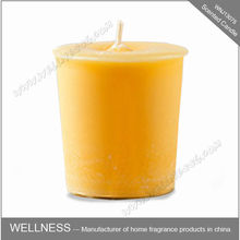 cheap yellow beeswax pillar candle