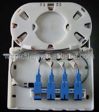 W-TEL FTTH 8/12/24/48F core optical fiber distribution terminal block enclosure box