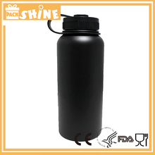 32oz Hydro Flask Wide Mouth Insulated Water Bottle Black 32 ounce