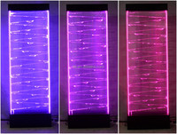 acrylic LED water bubble wall screen room divider arabic living room furniture