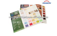 Paint color shade card