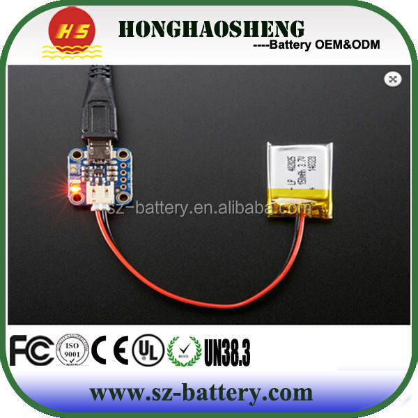 cheap small 402025 battery fit all kinds of electric products 3.7v 150mah 402025 fpr GPS,PDA battery