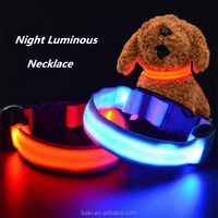 Light-up Dog Leads LED Pet Collar And Leash Flashing Color Change Dog Collar