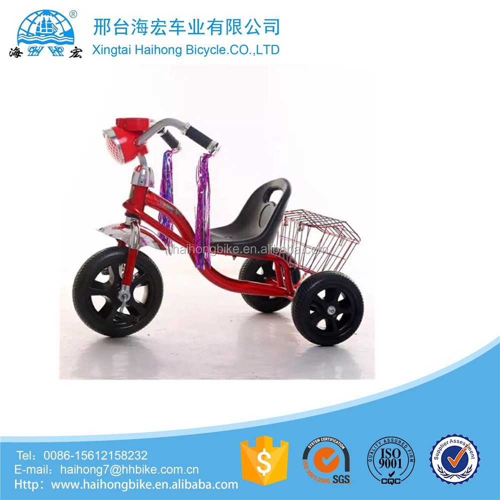 children three wheel cargo bycicle tricycle for 2-4 years old kids pedal bike