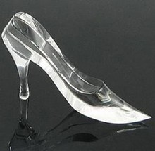 Decorative colorful Crystal glass shoes for home decoration
