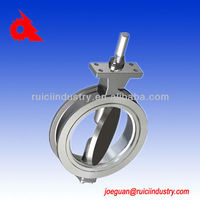 stainless steel valve butterfly with rubber line