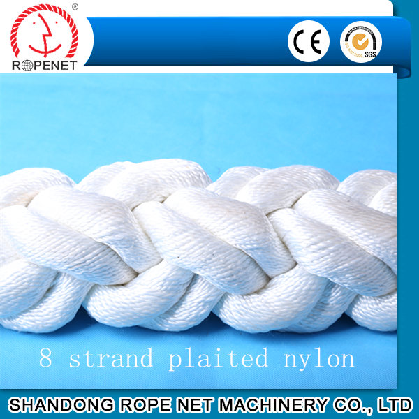 8 strand PP fiber hawser rope is widely used in ship mooring system and port towing
