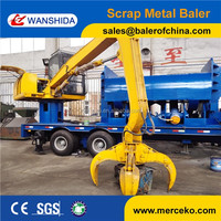 Y83D-3000A Mobile Scrap Metal Baler with Diesel engine power supply