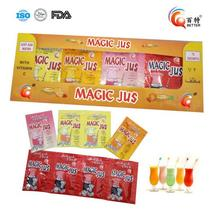 Flavored fruit juice packing sachet