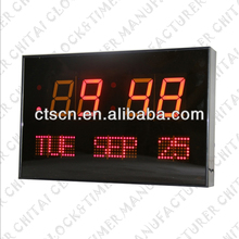 Day of Week Display LED Display Digital Monthly Calendar