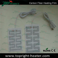 12V carbon fiber heated car seat pad with Emark CE certificate