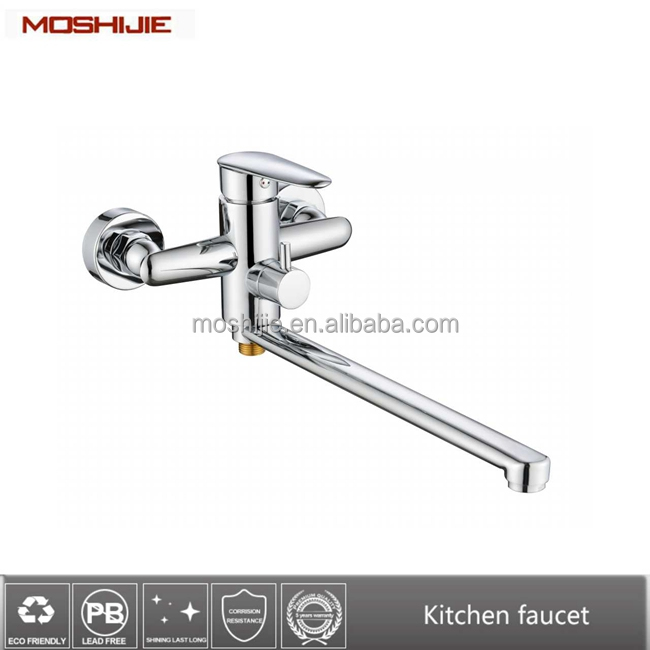 online wholesale shop MJ-<strong>K03</strong> China factory water tap brass bathroom wall mounted kitchen sink faucet
