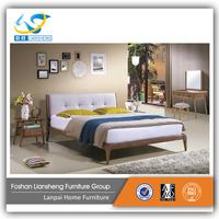 Bedroom furniture modern queen size bed designs platform bed solid wood bed frame 3060#