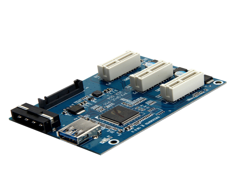 New PCI-e 1 to 3 PCI Ecexpress 1X Splitter adapter card external 3 PCI-e slot adapter Multiplier Card