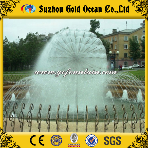 Multicolored Lights Modern Garden Fountain Dandelion Fountain