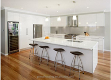 Australian 2 pac high gloss project flat pack simple kitchens
