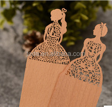 Natural Color Wooden Bookmark/3D Laser Cut special Bookmark