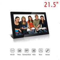 Factory Cheap Price 21.5 Inch Full HD 1080P Widescreen Digital Photo Frames with Motion Sensor for Tabletop or Wall Mount Use