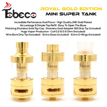 Tobeco wholesale super tank mini Gold best price super tank mini with 14 colors available mini super tank