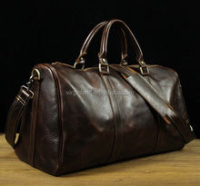 OEM Custom Multi-purpose Leather Weekend Duffel Travel Bag with Shoes Compartment