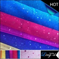Polyester Glimmer Tulle Metallic and Spangle Farbic for Dress and Bridal